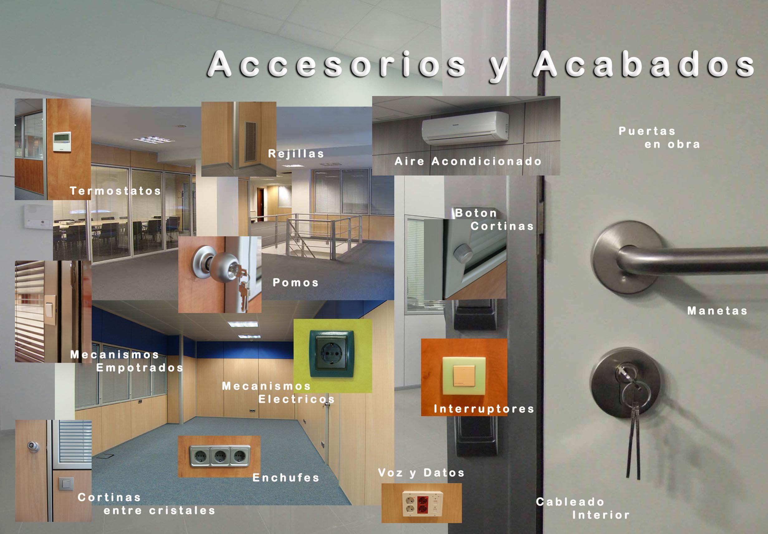 Mamparas de oficina en Barcelona - Mamparas para despachos en Barcelona - Accesorios y Acabados
