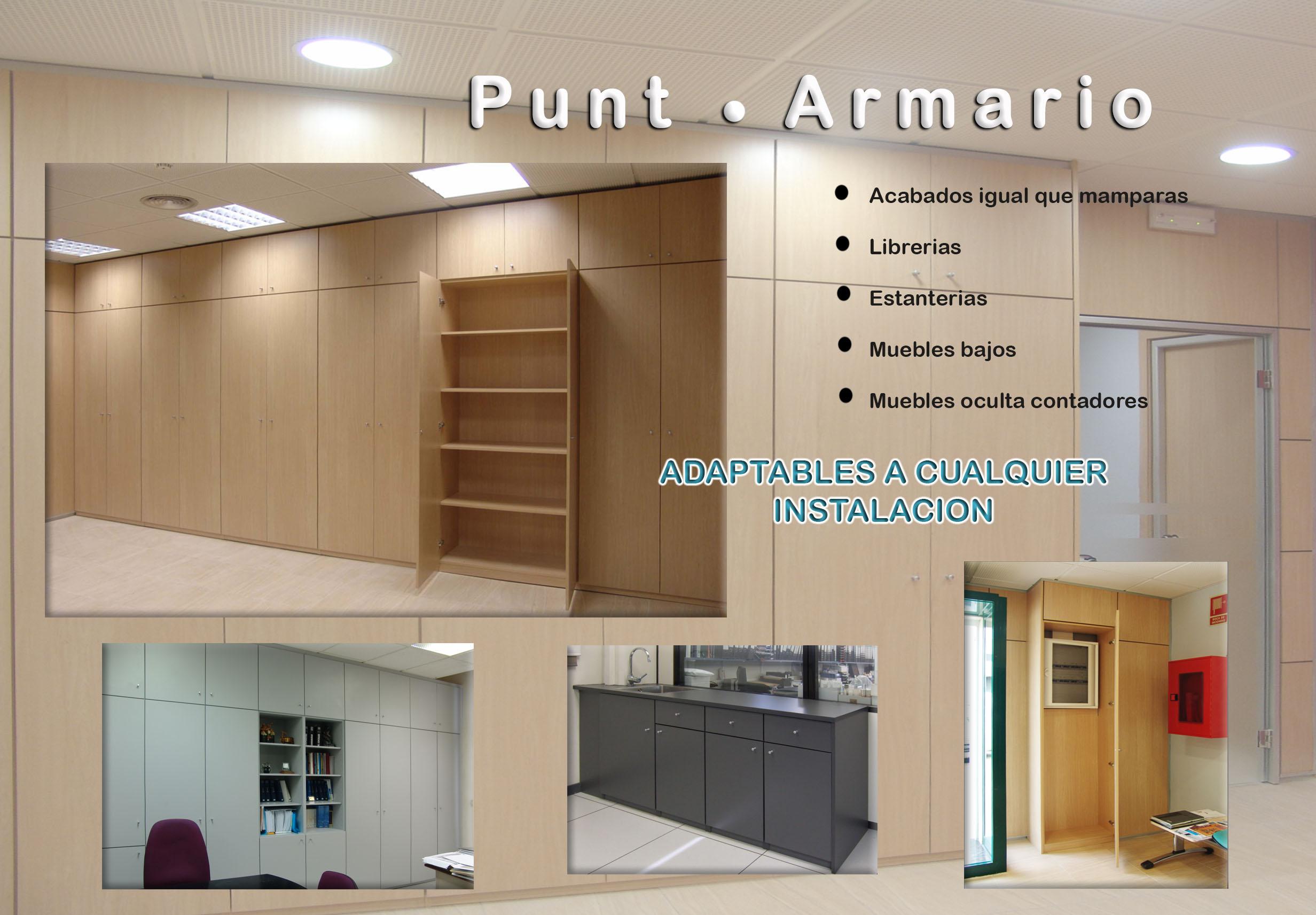 Armarios para oficinas en Barcelona, Armarios para despachos en Barcelona, Punt - Armario
