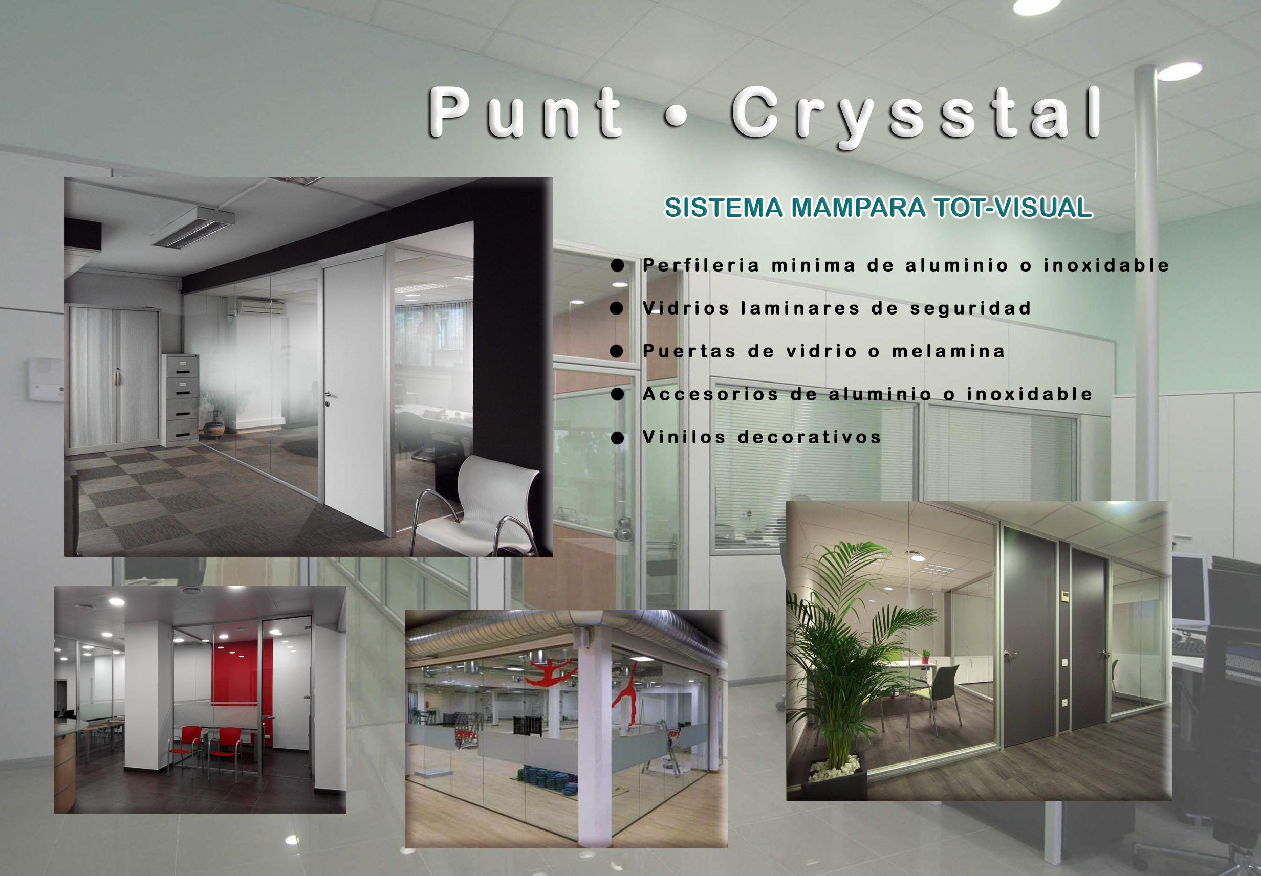 Mamparas de Oficinas en Barcelona, Cristal, Vidrio, Punt - Crystal nueva